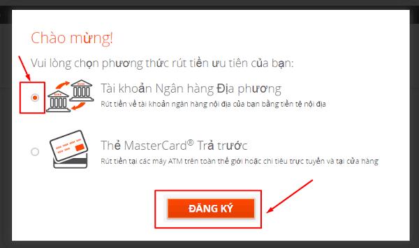 hướng dẫn đăng ký tài khoản Payoneer - Không phát hành thẻ