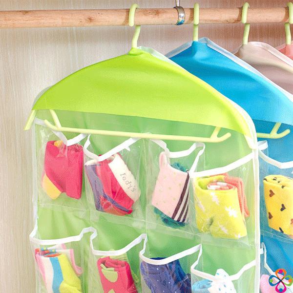Túi treo đồ 16 ngăn được thiết kế phần móc treo tiện dụng