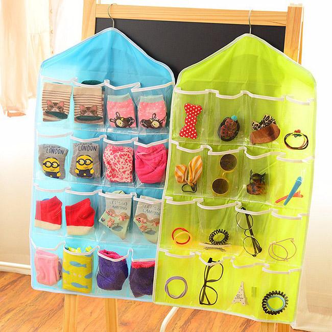 Túi treo đồ 16 ngăn giúp bạn cất giữ các vật dụng gọn gàng