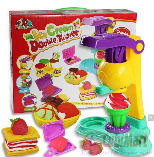 Sản phẩm bộ đồ chơi đất nặn làm kem cho bé