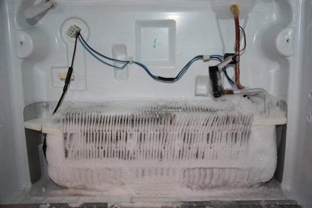 Hình ảnh tủ lạnh bị bó đá