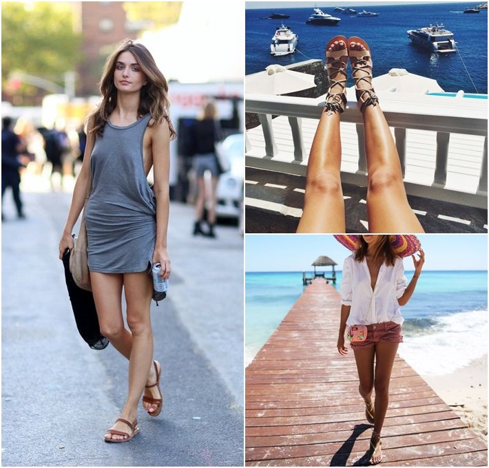 Tông màu nude, gam màu pastel vừa tôn da vừa giúp trung hoà làn da sạm màu của đôi chân.