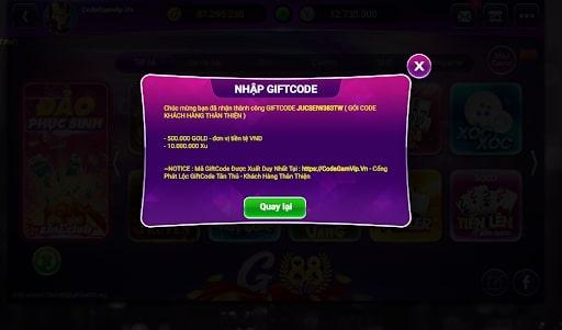 Cách nhập giftcode hiệu quả